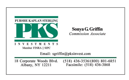 Purshe Kaplan Sterling business card